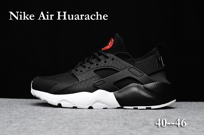 Huarache Noir Et Blanche Homme